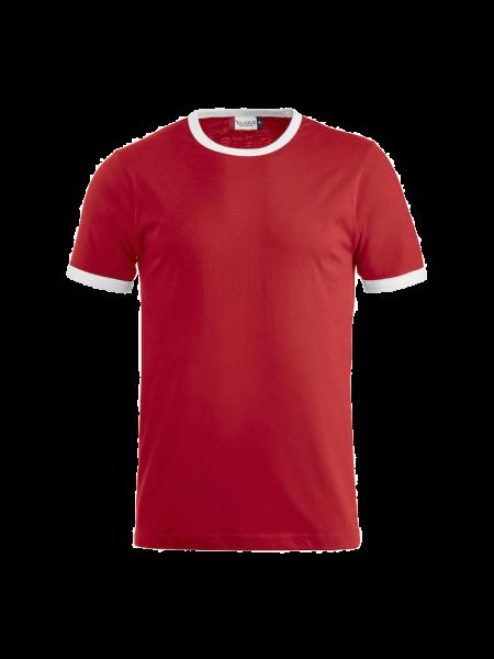 Unisex T-Shirt kurzarm Clique Nome 029314 Red/White 3500_1