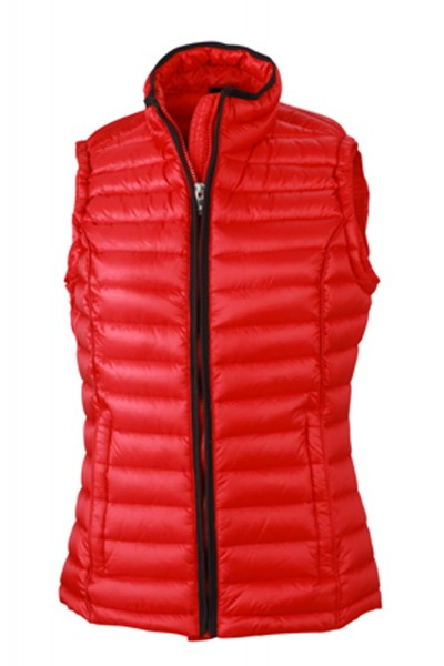 Steppweste James&Nicholson Ladies Quilted Down Vest JN1079 red/black