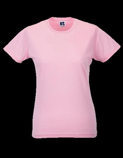 Damen T-Shirt kurzarm Russell Slim R-155F-0 Candy Pink_1