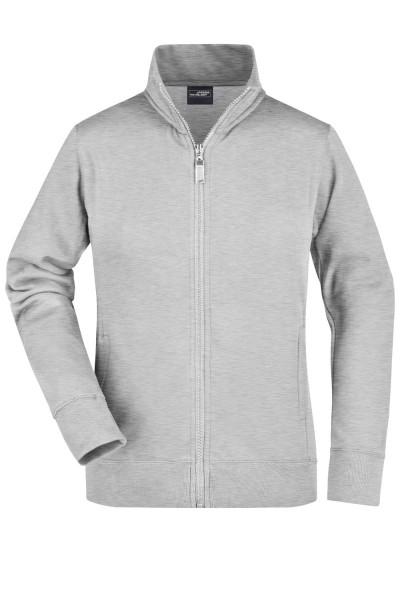 Sweatjacke James&Nicholson Ladies Jacket JN052 grey-heather