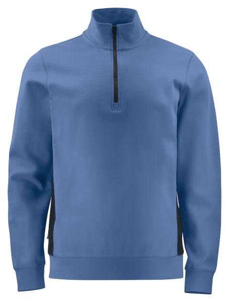 Pullover mit Zipper ProJob 2128 Half Zip mit Kontrastelementen 642128 Himmelblau/Schwarz 53