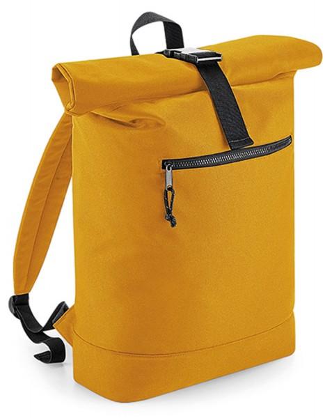 Rucksack BagBase Renew™ Recycled Roll-Top Backpack BG286 Mustard
