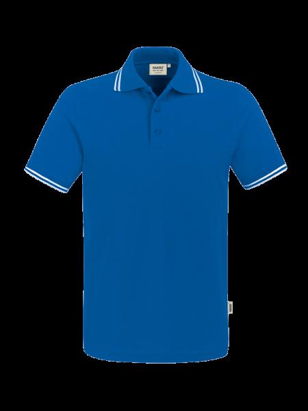 Herren Poloshirt kurzarm Hakro Twin-Stripe 805 royalblauweiss 010_1