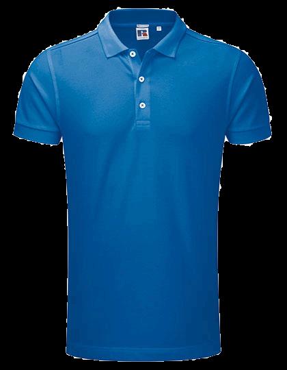 Herren Poloshirt kurzarm Russell Stretch R-566M-0 Azure Blue_1