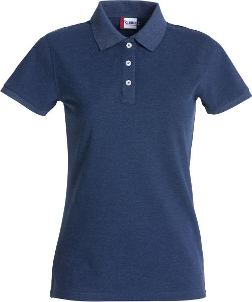 Poloshirt kurzarm Clique Stretch Premium Polo 028241 Blaumeliert 565