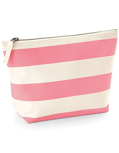 Stofftasche Westford Mill Nautical Accessory Bag WM684 Natural/Pink