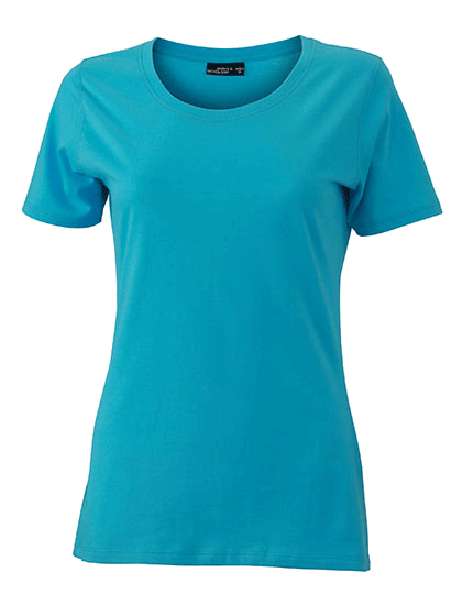 Damen T-Shirt kurzarm James&Nicholson Basic-T JN 901 Pacific_1
