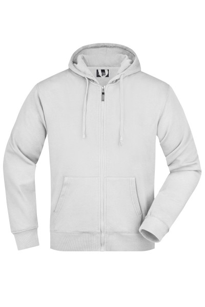 Kapuzenjacke James&Nicholson Men's Hooded Jacket JN042 white
