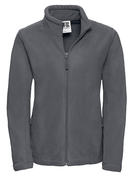 Damen Fleecejacke Russell Full Zip Outdoor R-870F-0 Convoy Grey (Solid)