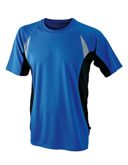 Herren Running-Shirt kurzarm James&Nicholson Running-T JN391 Royal Black_1