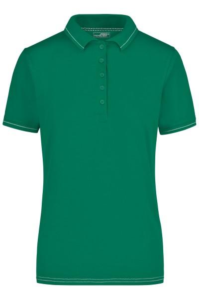 Poloshirt kurzarm James&Nicholson Ladies Elastic Polo JN568 irish-green/white