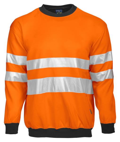 Sicherheits Pullover ProJob 6101 EN ISO 20471 Klasse 3 646101 Orange/Schwarz 1799