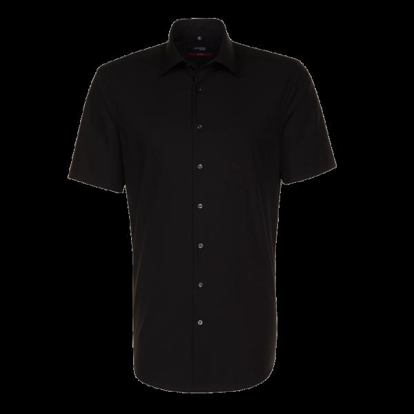 Herren Hemd kurzarm Seidensticker Modern 1001 schwarz 84