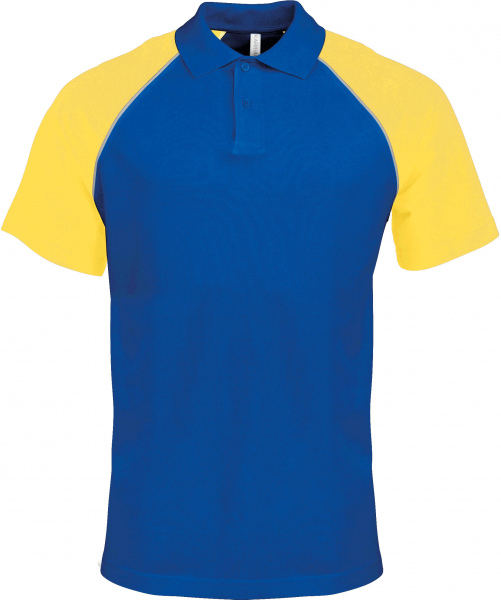 Herren Poloshirt kurzarm Kariban K226 Royal Blue / Yellow_1