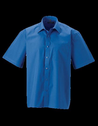 Herren Hemd kurzarm Russell Pure Cotton Poplin R-937M-0 Aztec Blue_1
