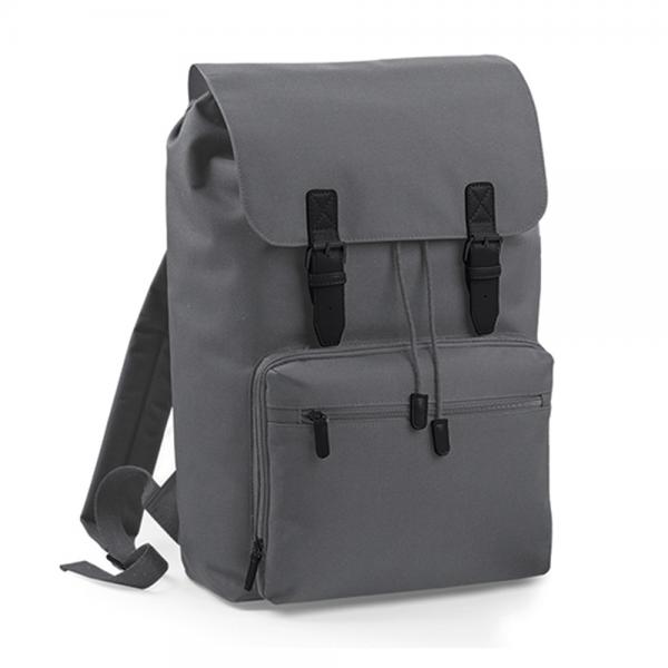 Rucksack BagBase Vintage Laptop Backpack BG613 Graphite Grey