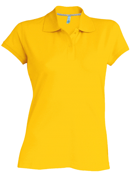 Damen Poloshirt kurzarm Kariban K242 Yellow_1