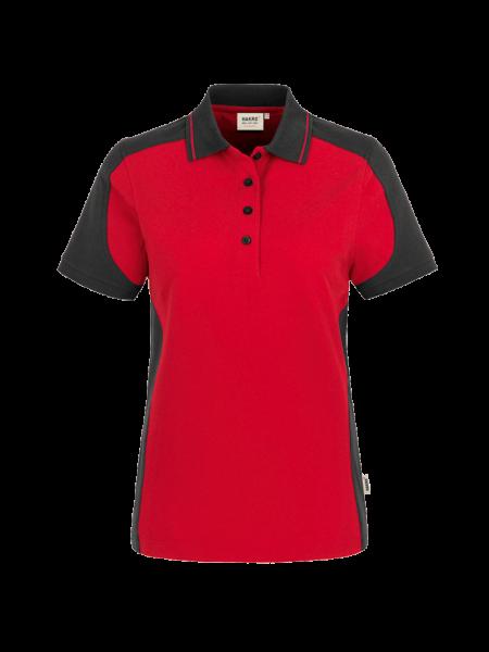 Damen Poloshirt kurzarm Hakro Performance 239 rotanthrazit 002_1