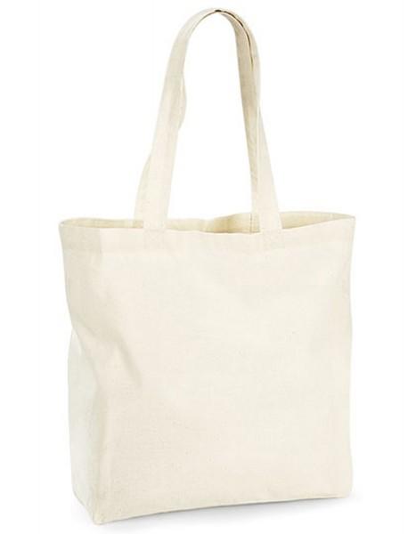 Tragtasche Westford Mill Organic Premium Cotton Maxi Bag WM265 Natural