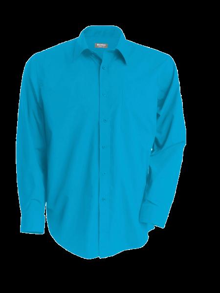 Herren Hemd langarm Kariban K545 Bright Turquoise_1