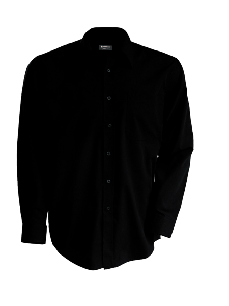 Herren Hemd langarm Kariban K537 Black_1