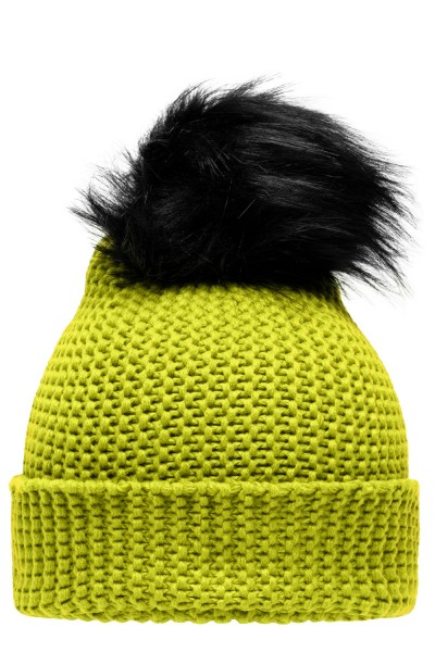 Muetze Myrtle Beach Wintersport Beanie MB7984 acid-yellow/black