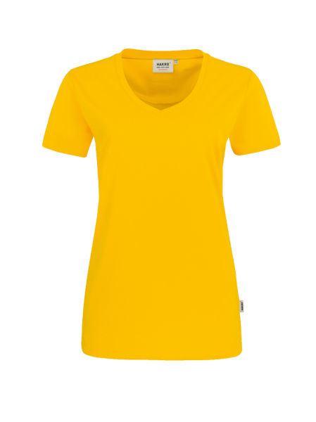 Damen T-Shirt V-Neck kurzarm Hakro Performance 181 sonne 035_1
