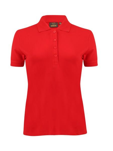 Damen Poloshirt kurzarm Switcher Stacy 4030 ROUGE 10