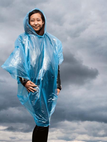 Unisex Poncho Korntex Einweg Regen-Poncho Sumatra Blue_1
