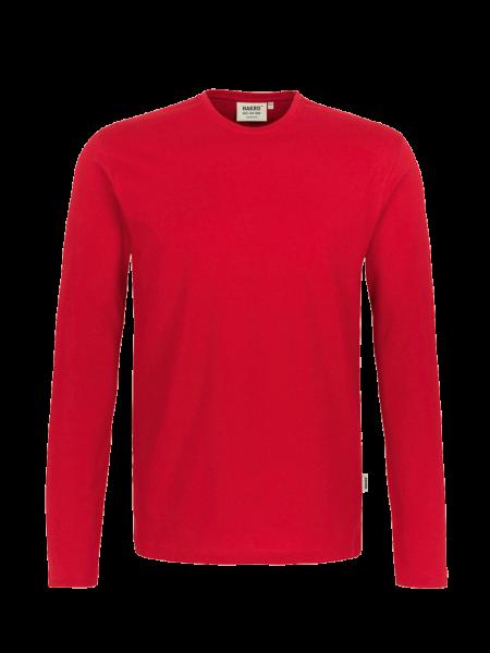 Herren T-Shirt langarm Hakro Heavy 278 rot 002_1