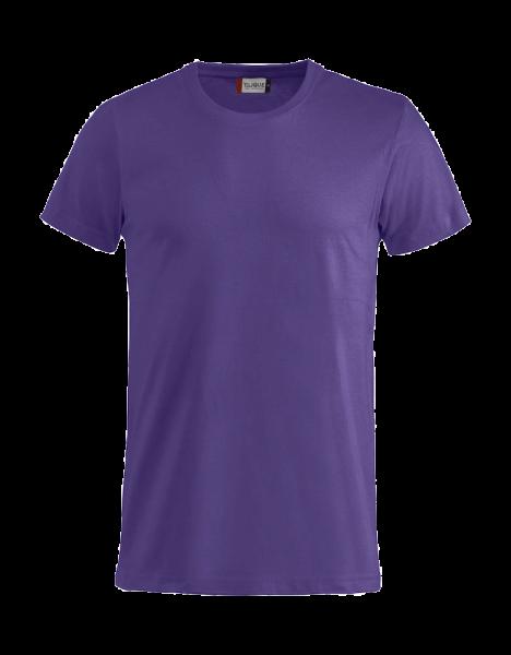 Unisex T-Shirt kurzarm Clique Basic-T 029030 Dunkellila 44_1