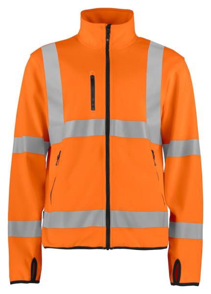 Leichte Softshelljacke ProJob 6105 EN ISO 20471 Klasse 3 646105 Orange 1799