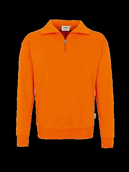 Herren Zip-Sweatshirt Hakro Premium 451 orange 027_1