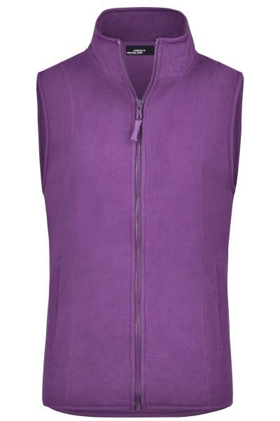Fleeceweste James&Nicholson Girly Microfleece Vest JN048 purple