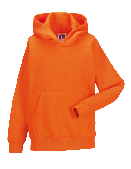 Kinder Kapuzenpullover Russell Hooded Sweatshirt R-575B-0 Orange_1