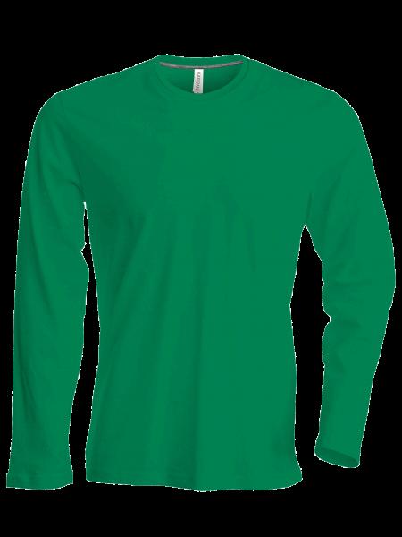 Herren T-Shirt langarm Kariban K359 Kelly Green_1