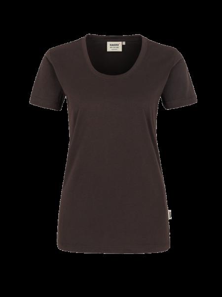 Damen T-Shirt kurzarm Hakro Classic 127 schokolade 022_1