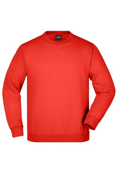 Pullover James&Nicholson Round-Sweat Heavy Junior JN040K tomato