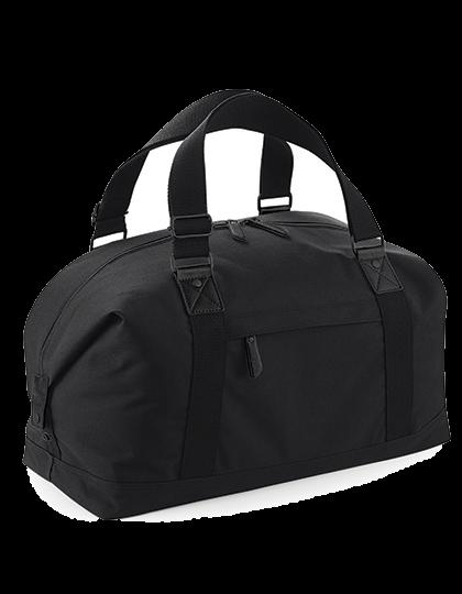 Reisetasche BagBase Vintage Overnighter BG628 Black Black_1