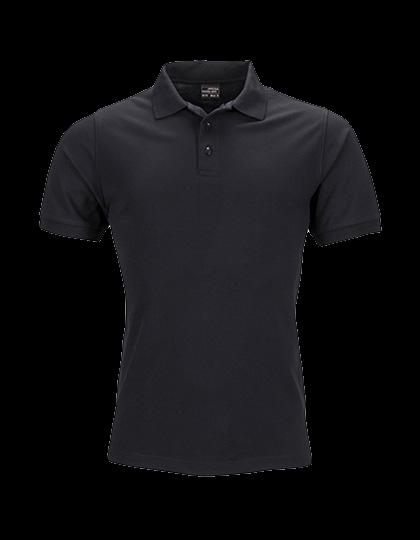 Herren Poloshirt kurzarm James&Nicholson Elastic JN710 Black_1