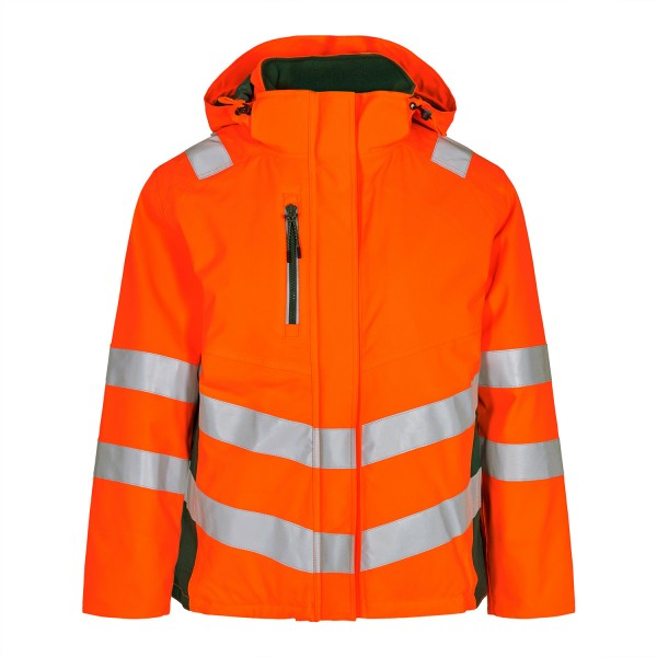 Damen Sicherheits-Winterjacke FE Engel Safety 1943-930 Orange/Gruen 101