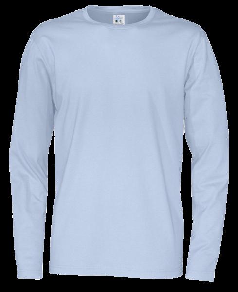 Herren T-Shirt langarm Cottover Jersey LS 141020 Sky blue 725