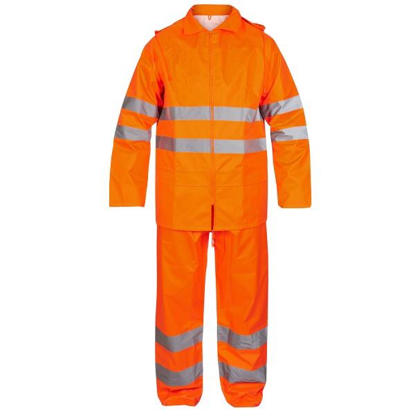 Herren Sicherheits-Regenset FE Engel Safety 1916-218 Orange 10