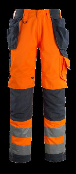 Herren Handwerkerhose Mascot Wigan 15531-860 hi-visorange/schwarzblau 14010_1