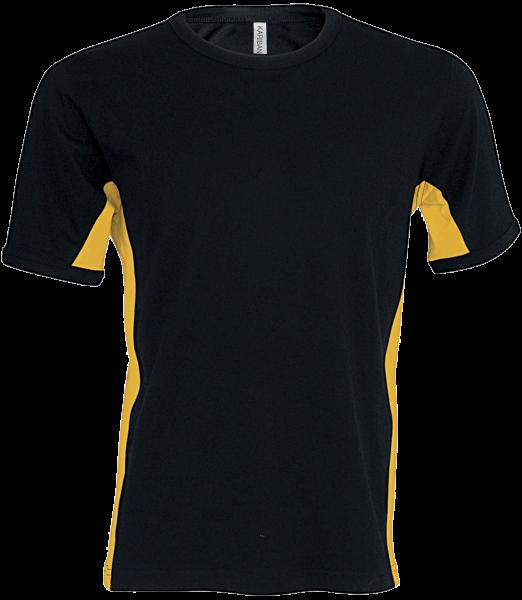 Herren T-Shirt kurzarm Kariban K340 Black / Yellow_1