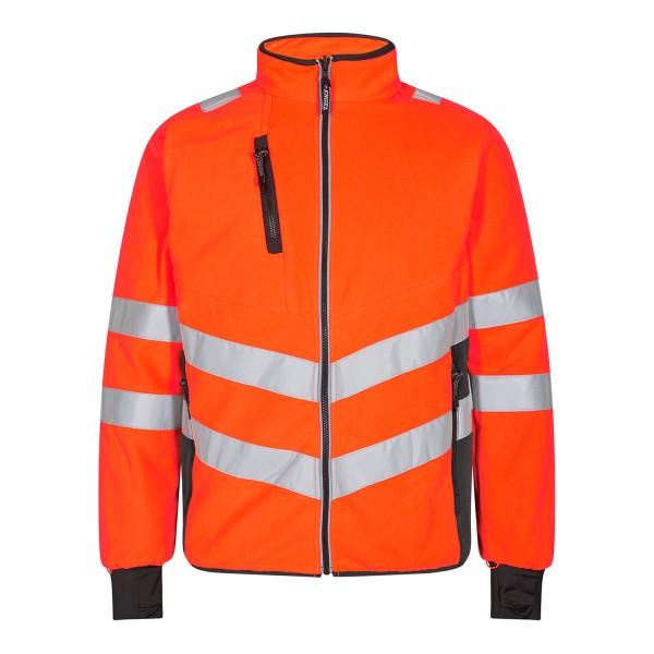 Herren Sicherheits-Fleecejacke FE Engel Safety 1192-236 Orange/Anthrazit Grau 1079