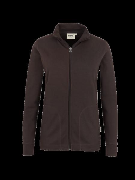 Damen Sweatshirt Jacke Hakro Interlock 227 schokolade 022_1