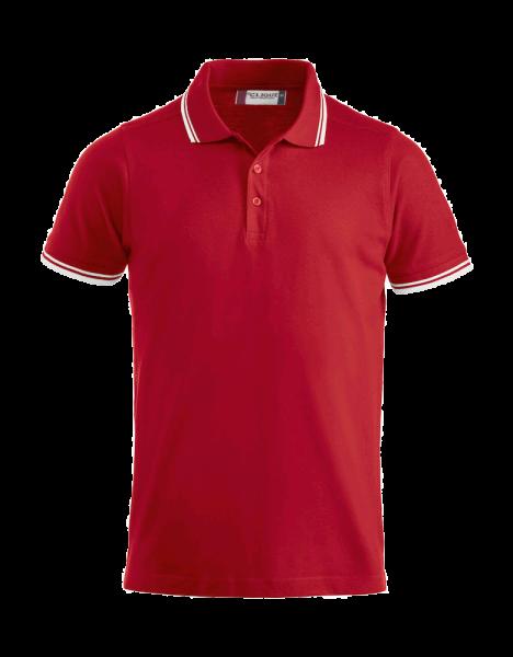 Herren Poloshirt kurzarm Clique Amarillo 028219 Rot 35_1