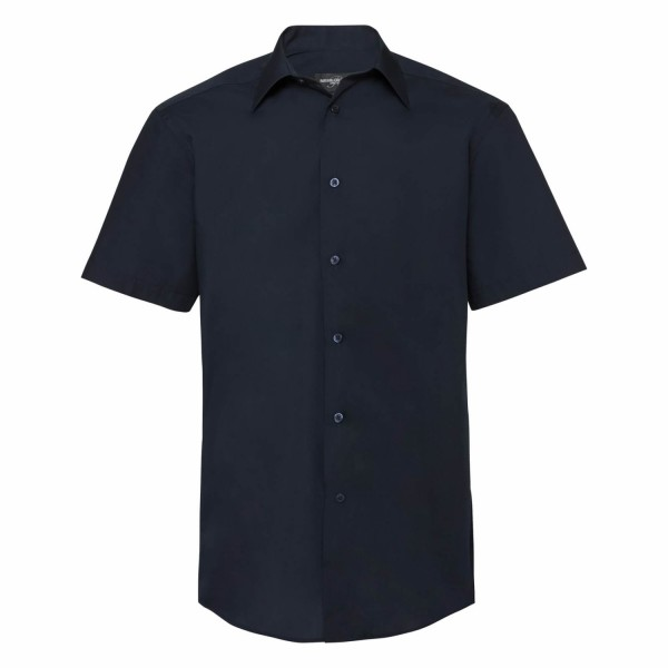 Herren Hemd kurzarm Russell Collection Tailored Polycotton R-925M-0 French Navy